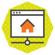 icon of a homepage with architecture leading to other pages