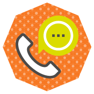 icon showing a traditional telephone, indicating a voice call