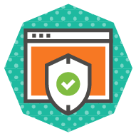 icon of a validation badge in relation to a website, symbolizing standards compliance
