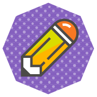 icon of a pencil with an eraser symbolizing the process of editing