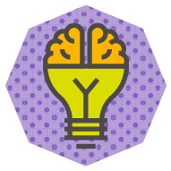 icon combining a brain and a light bulb symbolizing an idea