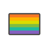 icon of an LGBTQ+ pride flag