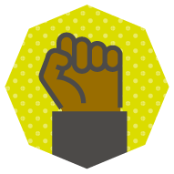 icon of a black power fist